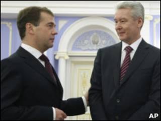 Дмитрий Медведев и Серегй Собянин