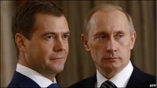 دمیتری مدودف و ولادیمیر پوتین