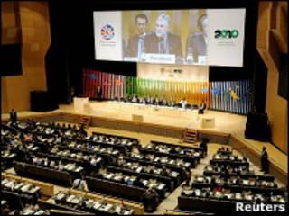 Representantes de 123 países participam da conferência. Foto: Reuters