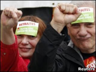 Забастовщики в Марселе