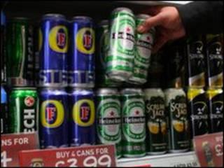 Банки с пивом