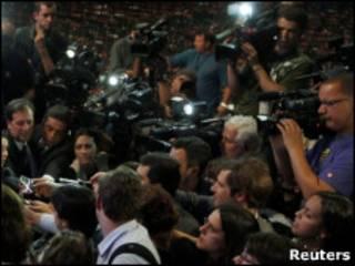 Coletiva de imprensa em São Paulo