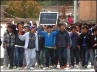 藏族學生在青海抗議