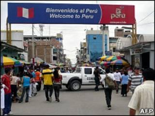 Entrada a Perú en la zona fronteriza con Ecuador