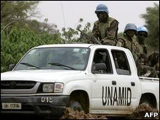 جنود قوات الأمم المتحدة في دارفور