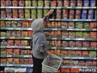 Полки в китайском магазине