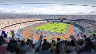 Londra Olimpiyat Stadyumunun bilgisayar tasarımı