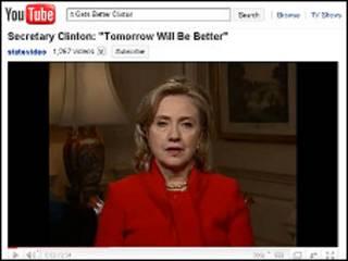 Обращение Хиллари Коинтон на Youtube