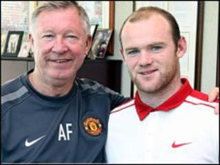 Sir Alex Ferguson na Wayne Rooney