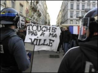 عکس آرشیوی از اعتراضات در فرانسه