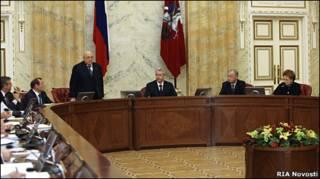 Сергей Собянин председательствует на заседании правительства Москвы 26 октября 2010 г.