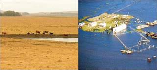 Sequías e inundaciones en Uruguay. Foto: gentileza del Ministerio de Ganadería, Agricultura y Pesca del Uruguay