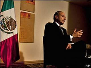 El presidente de México, Felipe Calderón