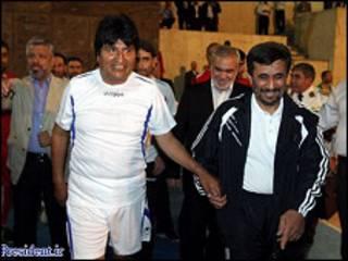 احمدي نژاد او ایفي مورالیس