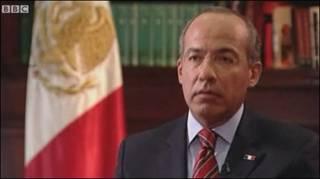 Entrevista do presidente do México, Felipe Calderón, à BBC