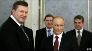 Віктор Янукович та Владімір Путін