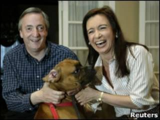 Néstor Kirchner y Cristina Fernández de Kirchner