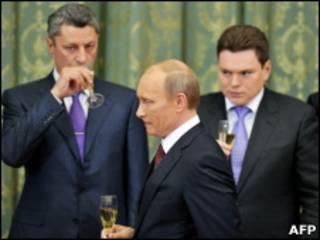 Владимир Путин на приеме в Киеве