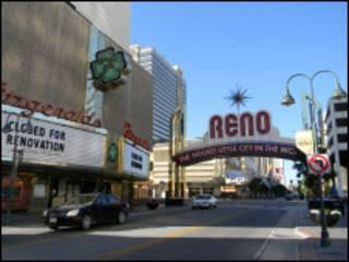 Centro de Reno, em Nevada