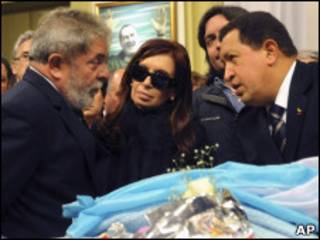 Lula, Cristina e Chávez