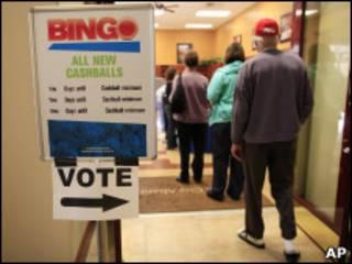 Posto de votação antecipada em Las Vegas
