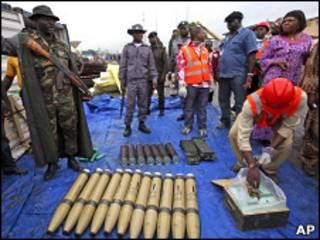 محموله سلاح ایرانی توقیف شده در نیجریه