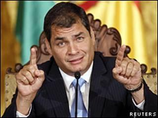 O presidente do Equador, Rafael Correa