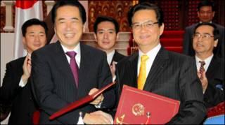 Thủ tướng Naoto Kan và Nguyễn Tấn Dũng