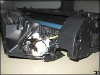 Quả bom được giấu trong hộp mực in