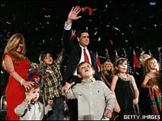 Marco Rubio comemora sua eleição ao Senado
