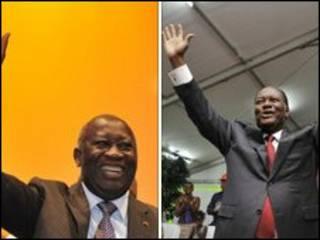 مرشحا الرئاسة في ساحل العاج