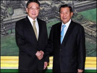 Hai ông Ngô Bang Quốc và Hun Sen