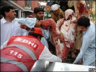 Жертва взрыва в Пакистане