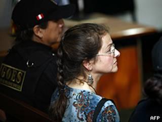 La estadounidense Lori Berenson en el juzgado