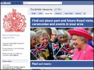 Reina Isabel II en Facebook
