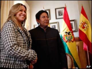 Los cancilleres de España y Bolivia