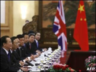 Участники китайско-британских переговоров