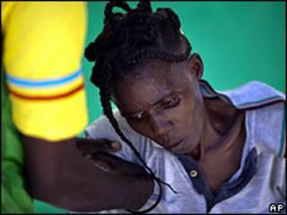 Гаитянка, больная холерой