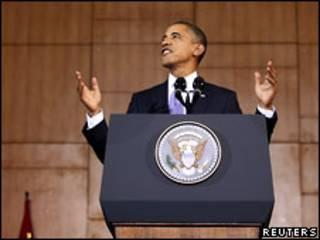 Выступление президента США в Джакарте