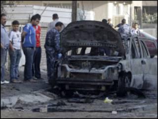 سيارة مفخخة في بغداد (ارشيف)