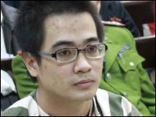 Nguyễn Đức Nghĩa tại tòa (ảnh của báo Tiền Phong)