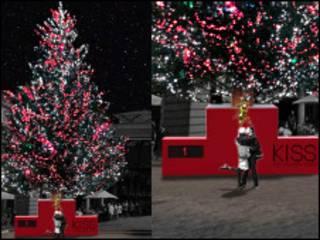接吻圣诞树