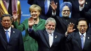 Foto final do G20 com os líderes