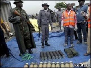 سلاح های توقیف شده در نیجریه