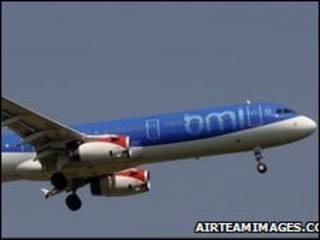 طائرة تابعة لشركة بي ام اي