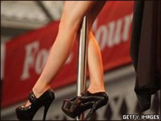 Bailarina de un club erótico