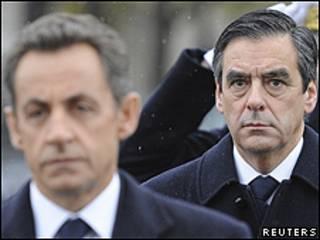 Nicolas Sarkozy (izq.) y François Fillon