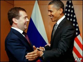 اوباما ومدفيدف