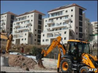 Assentamento israelense em construção