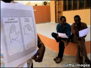 شعاري الوحدة والانفصال في أوراق التصويت